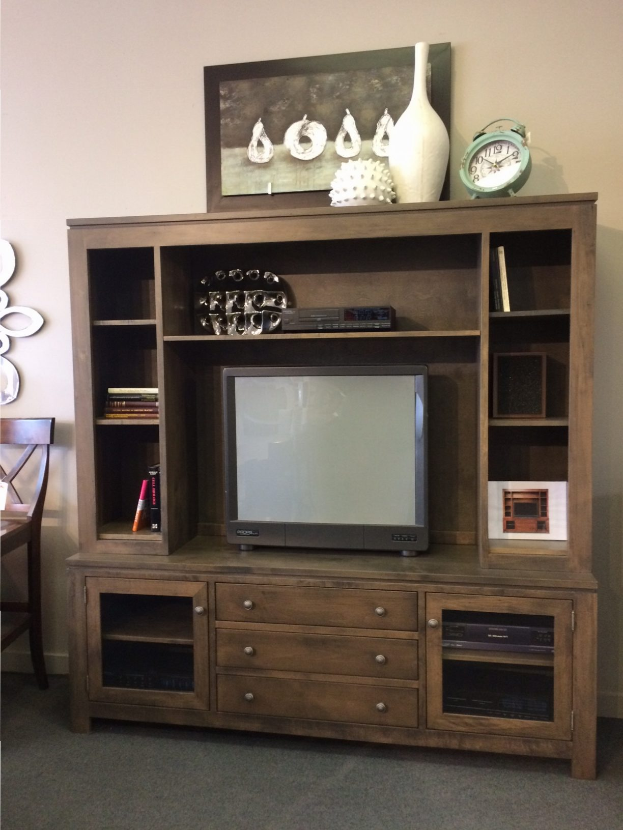 """Newport 75"""" HDTV Cabinet with Hutch"""