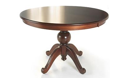 shamrock single pedestal solid wood table woodcraft. Black Bedroom Furniture Sets. Home Design Ideas