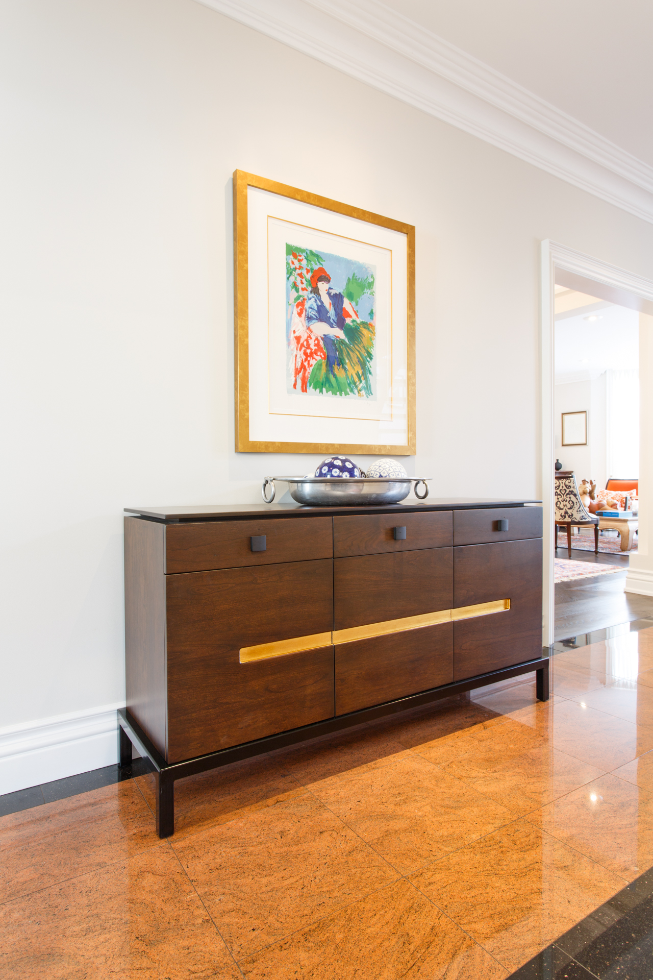 Sterling Sideboard with Gold Leaf Inlay
