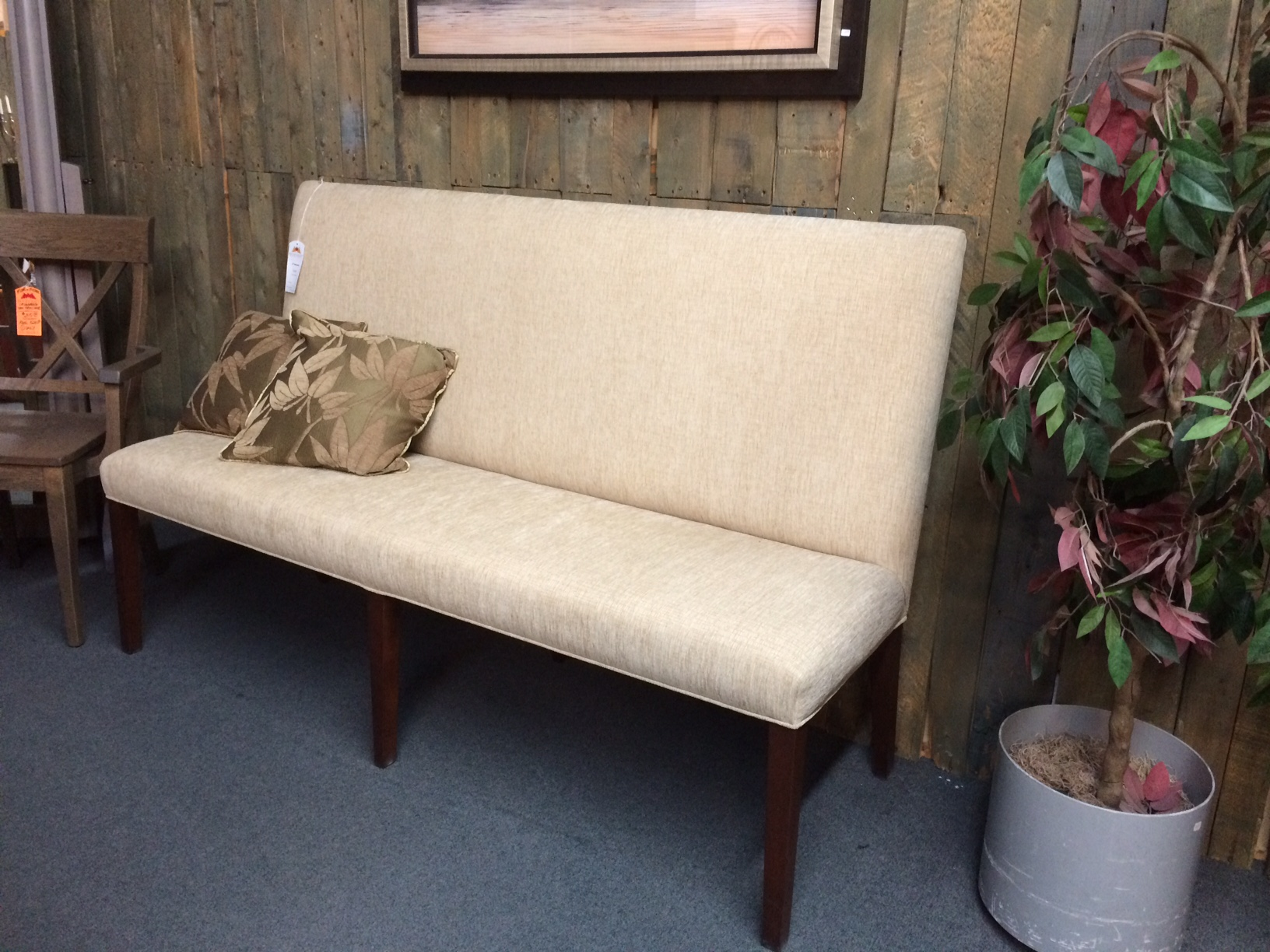 "66"" Long Upholstered Banquette"