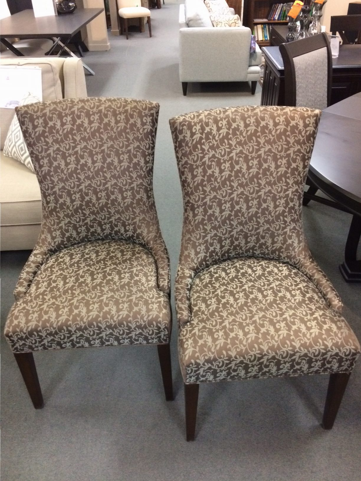 (2) Tall Whitney Upholstered Dining Chairs