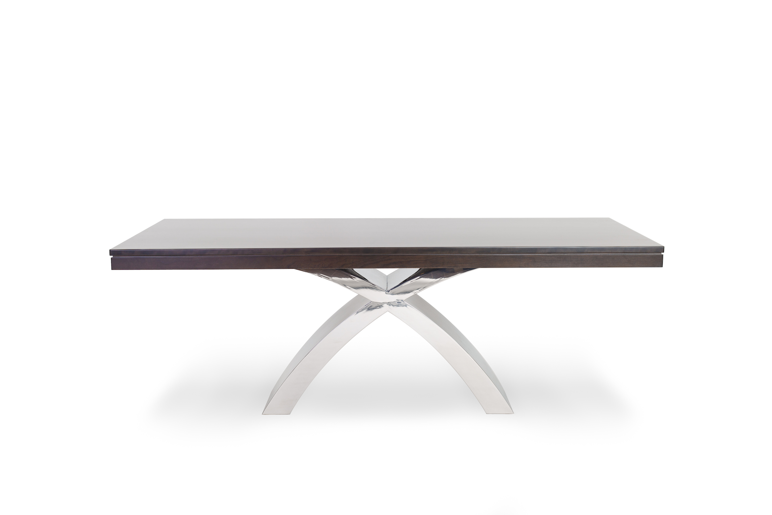 Broadview Dining Table with Chrome Base