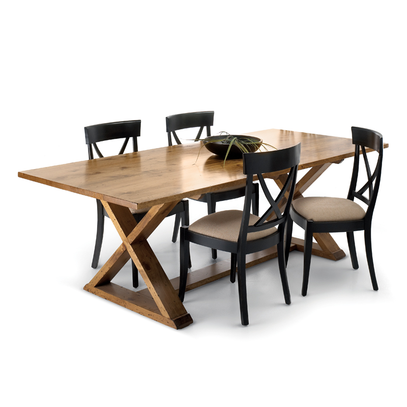 Dining Room Table Bases Wood: X-Base Dining Table
