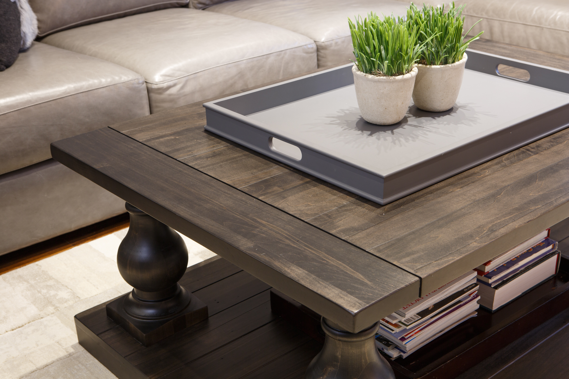 Balustrade Coffee Table Solid Wood Furniture Woodcraft