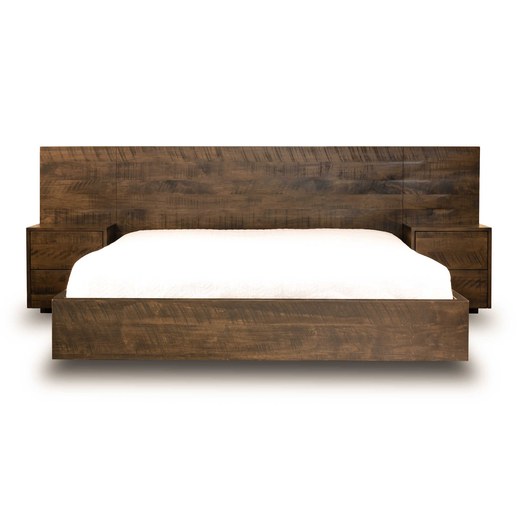 Floating Bed Woodcraft Solid Wood Furniture