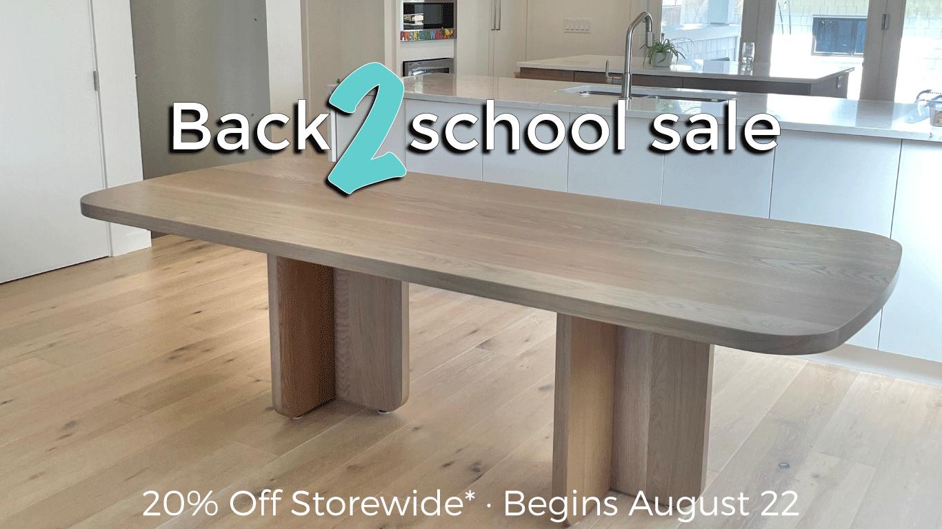 Back 2 School Sale - 20% Off Storewide*